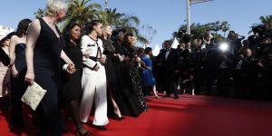 Cannes Film Festivali'nde sessiz protesto