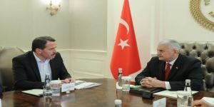 Memur-Sen heyeti Başbakan Yıldırım ile görüştü