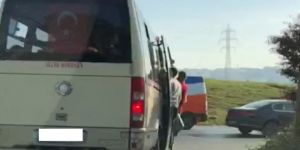 Minibüste tehlikeli yolculuk