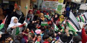 Tel Aviv'de, Gazze'deki katliama karşı protesto gösterisi