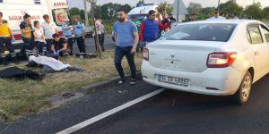 Otomobil motosiklete çarptı: 1 ölü