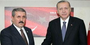 Destici'den Erdoğan'a teşekkür ziyareti