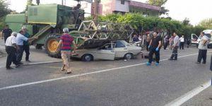 Otomobil biçerdöverle çarpıştı: 1 ölü, 3 yaralı