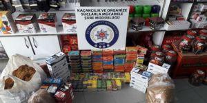 Polisten kaçak elektronik sigara likidi operasyonu
