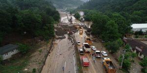 Bursa - Orhaneli yolu tekrar oluşan heyelan nedeniyle trafiğe açılamadı