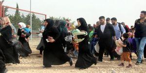 Suriyeliler sınıra akın etti