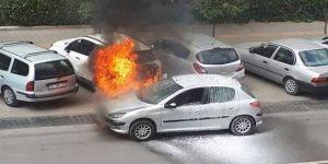 Benzin kaçağından araç alev aldı