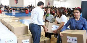 TİKA'dan Arnavutluk'ta gıda malzemesi desteği
