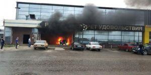 AVM yangını: 8 yaralı