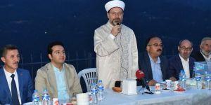 Erbaş, baba ocağında iftar yaptı