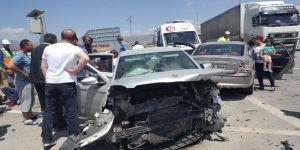 Trafik kazası: 9 yaralı