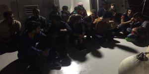 22 kaçak göçmen yakalandı