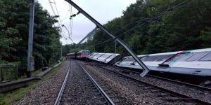 Tren raydan çıktı