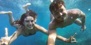Su altında aşk!