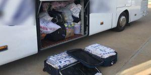 Yolcu otobüsünde kaçarak sigara ele geçirildi