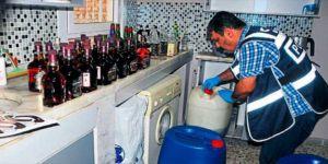 42 bin 500 litre kaçak içki ele geçirildi