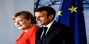 Macron ve Merkel ortak basın toplantısı düzenledi