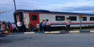 Genç kıza tren çarptı
