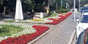 Eskihisar, rengarenk çiçeklerle donatıldı
