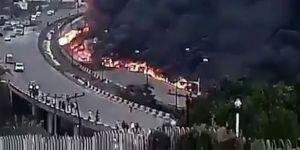 Petrol tankeri patladı: 9 ölü, 5 yaralı