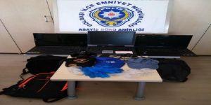 Okul hırsızları yakalandı