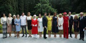 Emine Erdoğan, lider eşleri ile bir araya geldi