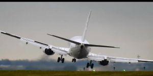 Motoruna kuş çarpan uçak Çorlu semalarında tur atıyor