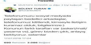 Bedelli detaylarını açıklayan Turan'ın telefonları kilitlendi
