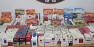 370 paket kaçak sigara ele geçirildi