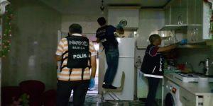 Zehir tacirlerine operasyon: 4 gözaltı
