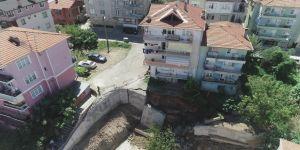 Kocaeli'de duvar çöktü