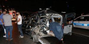 D-100 karayolunda feci kaza: 1 ölü 2 yaralı