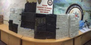 35 bin paket kaçak sigara ele geçirildi
