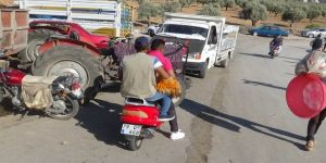 Motosikletle kurbanlık sevkıyatı