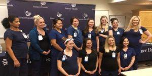 16 hemşire birden hamile!