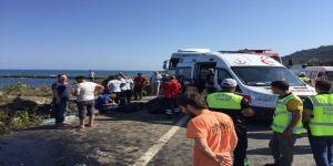 Sahil yolunda kaza: 3 ölü, 1 yaralı