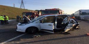 3'üncü köprü yolundaki kazada baba ve oğlu hayatını kaybetti