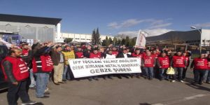 Gebze'de işçiler eyleme başladı