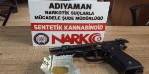 Narkotik ekipleri silah ve uyuşturucu ele geçirdi