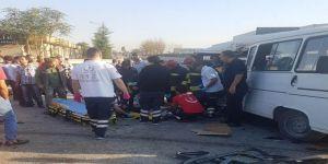 Dehşet kaza: 1 ölü, 8 yaralı