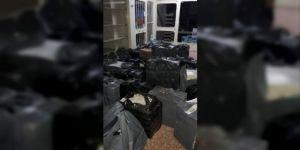 27 bin paket kaçak sigara ele geçirildi