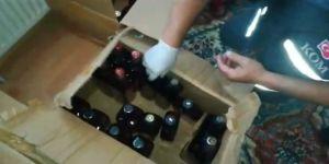 Sahte bandrollü kaçak içki operasyonu
