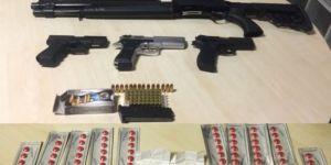 Uyuşturucuyu 30 bin liralık silahla korumuşlar