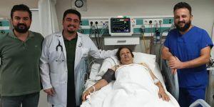 Şah damarına takılan stent ile hayata tutundu