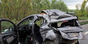 TEM Otoyolunda feci kaza: 1 ölü, 3 ağır yaralı