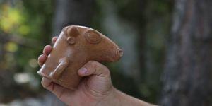 Hattuşa'da 3 bin 500 yıllık boğa biçimli içme kabı bulundu