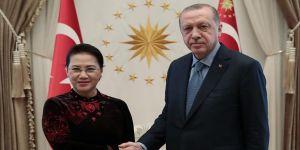 Erdoğan, Vietnam Ulusal Meclis Başkanı Ngan'ı kabul etti