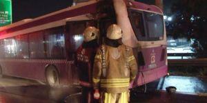 Korkutan otobüs yangını