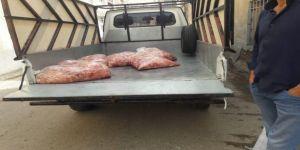 Kamyonette kaçak tavuk eti ele geçirildi