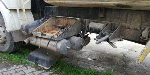 3 hafriyat kamyonunun aküleri çalındı